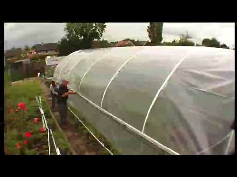 Polytunnel Construction - Covering with a Base Rail