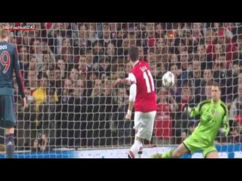 Mesut Özil epic fail Penalty Miss ~ Arsenal vs FC Bayern München 19/02/2014 HD