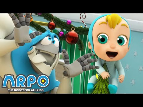 Arpo the Robot | Get off the CHRISTMAS TREE! | NEW VIDEO | Funny Cartoons for Kids | Arpo and Daniel