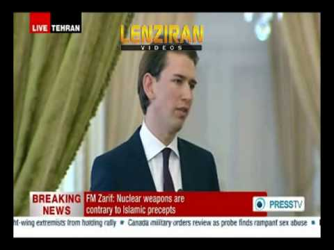 Young Austrian foreign minister teach  Javad Zarif during joint press conference