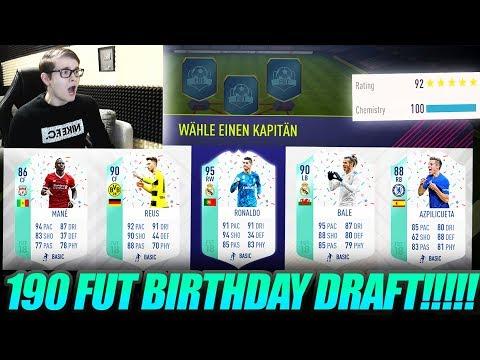 FIFA 18: OMG DAS BESTE FUT BIRTHDAY FUT DRAFT!! 🔥🔥 Ultimate Team - 190 Rated Challenge