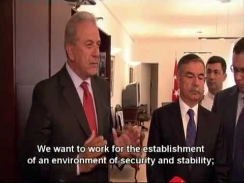 MoD Dimitris Avramopoulos' meeting with the Turkish MoD Ismet Yilmaz, Brussels
