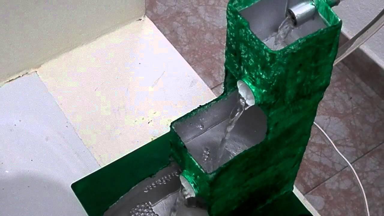 Fuente con bomba de agua usando material de reciclaje - Motor de fuente de agua ...