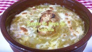 Receta fácil para preparar sopa de cebollas