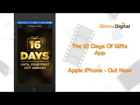 Gimmedigital App First Look - The 12 Days Of Gifts App 2013