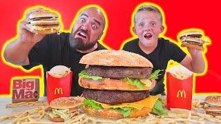 Most Expensive Giant McDonalds Big Mac vs Real  Hamburger DIY
