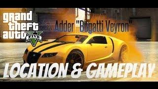 """Fastest Car In Grand Theft Auto 5 - Adder """"Bugatti Veyron"""" Location (GTA 5 Secret Car)"""