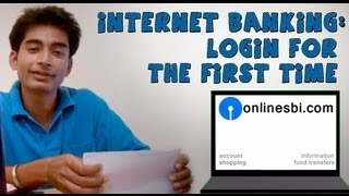 SBI Online Banking(Part 1)- Login For The First Time Using