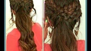 ★GRECIAN BRAID HAIRSTYLES HAIR TUTORIAL FOR MEDIUM LONG