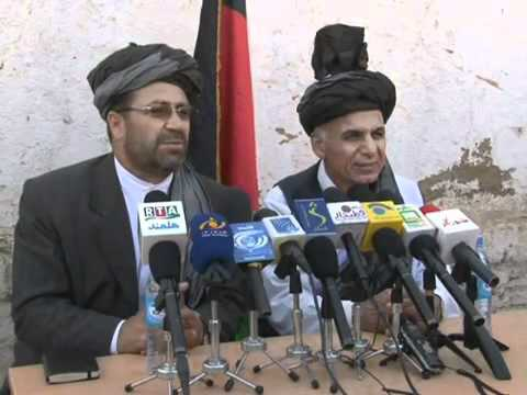 Ashraf Ghani Ahmadzai and Gulab Mangal in Nad Ali
