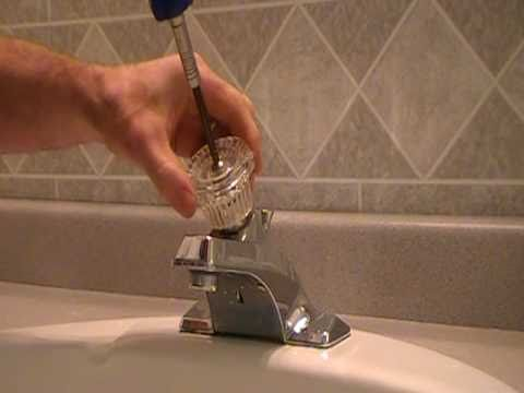 How To Replace Repair A Leaky Moen Cartridge In A Bathroom Set Of Faucets Sin
