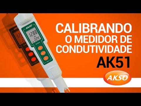 Calibrando o medidor de condutividade AK51