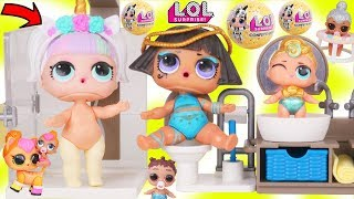 Unicorn and Pharaoh Babe Get Bathroom with Lil Luxe Boy