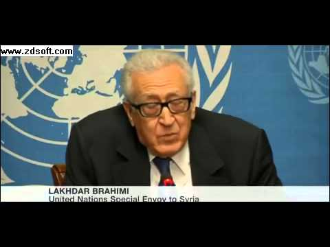 Syria talks: Lakhdar Brahimi apology for lack of progress