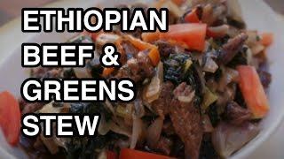 How To Cook Great Ethiopian Beef &Gomen recipe - collard greens