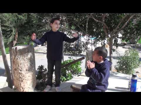 Recreo en la tarde de Beit Ommar, con Rhim, Obey y Sara-23/02/2011 PALESTINA