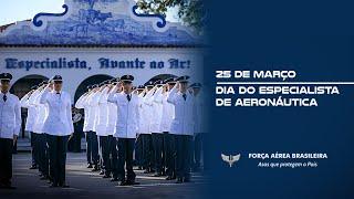 Confira o vídeo em homenagem ao Dia do Especialista de Aeronáutica, comemorado em 25 de março. Os Especialistas são profissionais que atuam para dar suporte à atividade-fim da FAB.