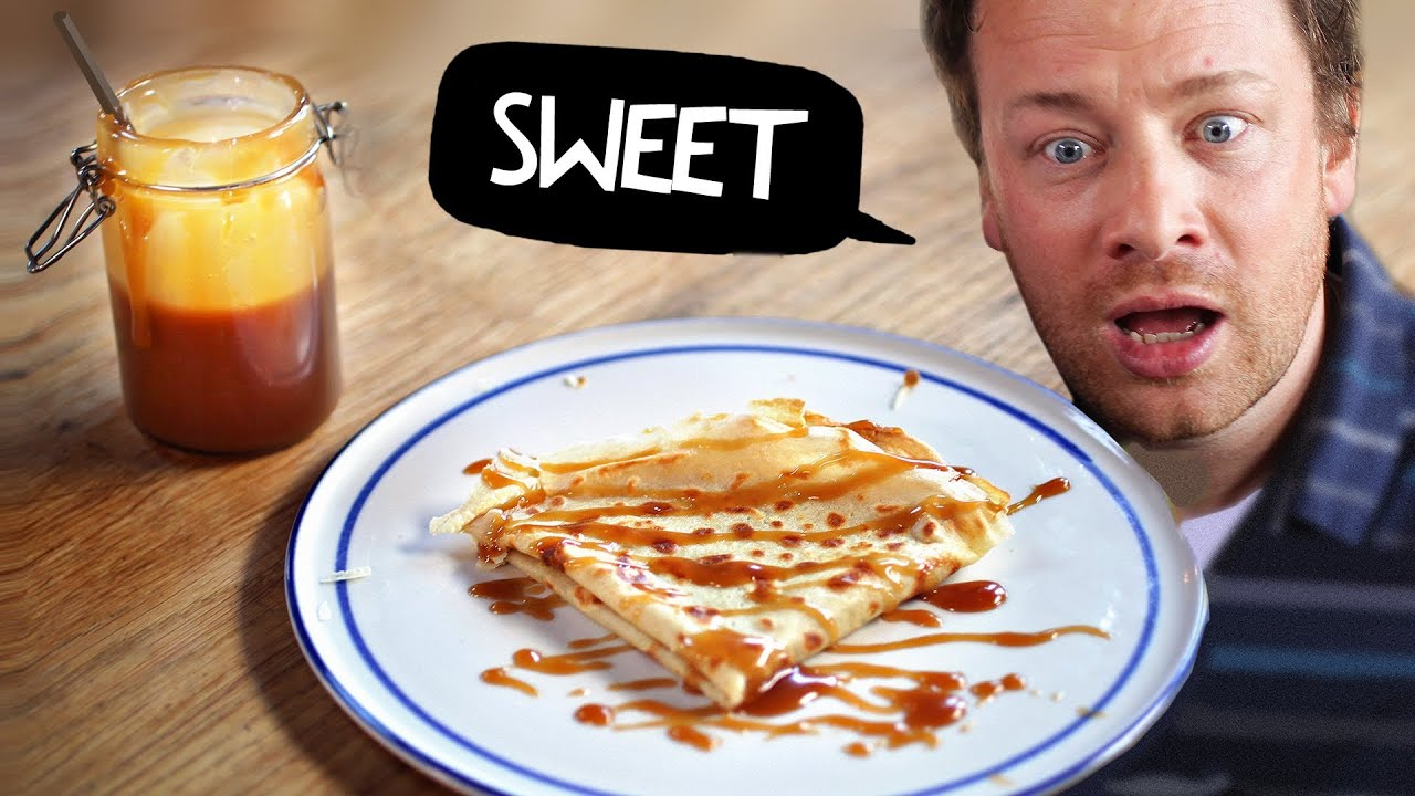 Crepes & Salted Butter Caramel with Jamie Oliver ! #mypancakeday ...
