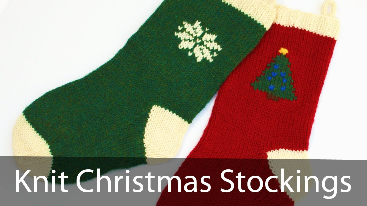 Christmas Stocking Knitting Pattern Circular Needles : Learn to Knit a Christmas Stocking - Part 1 - YouTube