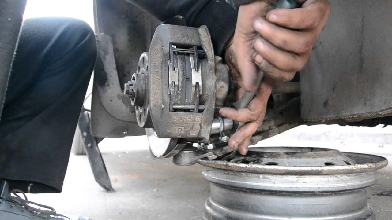 Фото ремонта задних колодок daewoo lanos 4