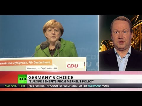 Merry Merkel: Conservatives lead in German vote with 'super result'