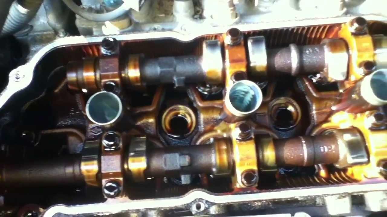 toyota sienna engine  valve cover sept   youtube