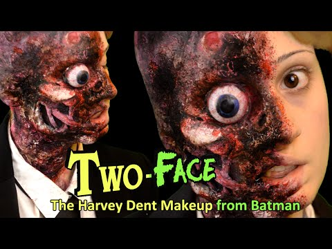 Maquillaje Dos Caras / Two-Face Makeup | Harvey Dent (Batman)