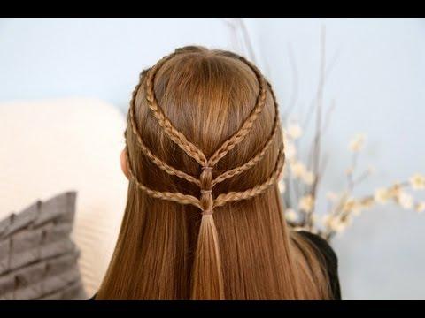 Triple-Braided Tieback | Cute Girls Hairstyles