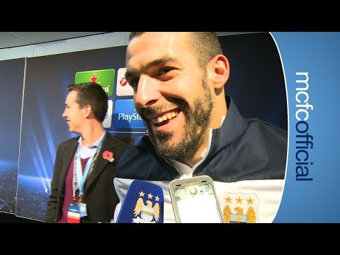 NEGREDO HAT-TRICK City 5-2 CSKA Moscow Alvaro Negredo Reaction