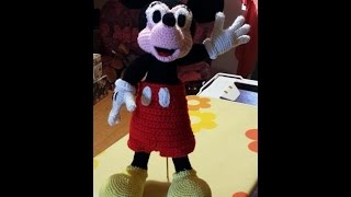Tutorial Topolino Micky Mouse All'uncinetto Parte II