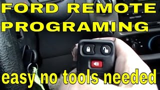 FORD RANGER How To Program Keyless Entry Remote Control