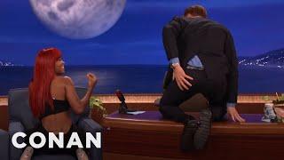 Keke Palmer Teaches Conan How To Isolate His Butt Cheeks  - CONAN on TBS