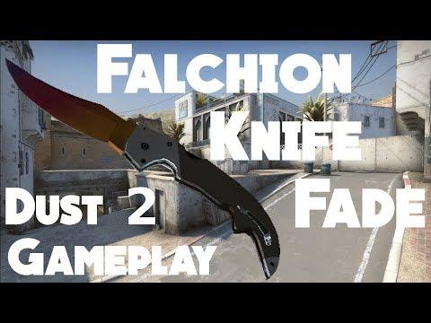 falchion knife fade gameplay cs go dust 2 480p