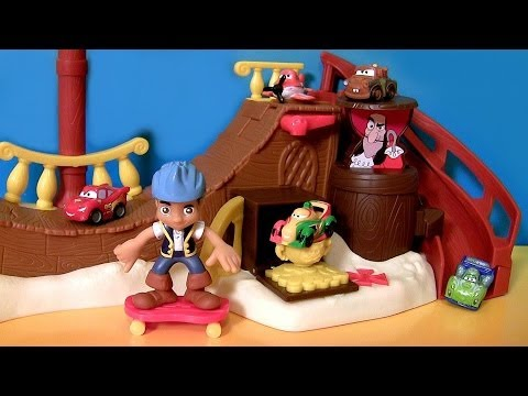 Cars Micro Drifters in Jake's Never Land Skate Park Disney Junior Jake and the Neverland Pirates