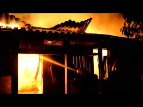 Ukraine military barracks burn on eve of self-rule refer