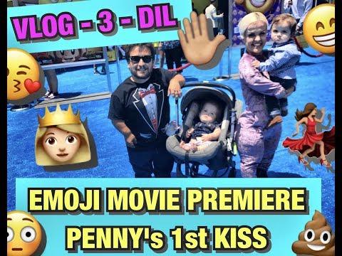 Emoji Movie Premiere, FIRST KISS, DIL -3 Mini Mama Vlog