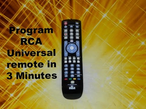How To Program Your Tv With Rca Universal Remote Youtube