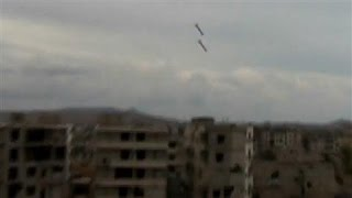 Video Captures Bombs Exploding in Syrian City of Daraya