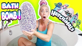 DIY GIANT HATCHIMALS BATH BOMB! SUPRISE TOY HATCH! HOW TO MAKE HATCHIMALS BATH BOMB