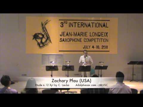 3rd JMLISC: Zachary Pfau (USA) Etude n.12 Xyl by C. Lauba