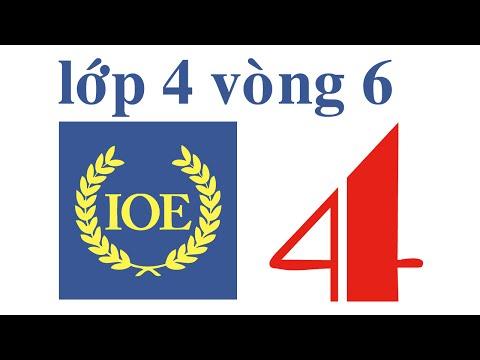 IOE Olympic Tiếng Anh lớp 4 vòng 6 năm 2014-2015