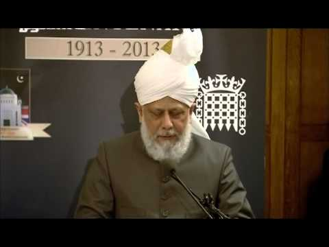 London, UK: Khalifa of Islam delivers Keynote Address in the Houses of UK Parliament