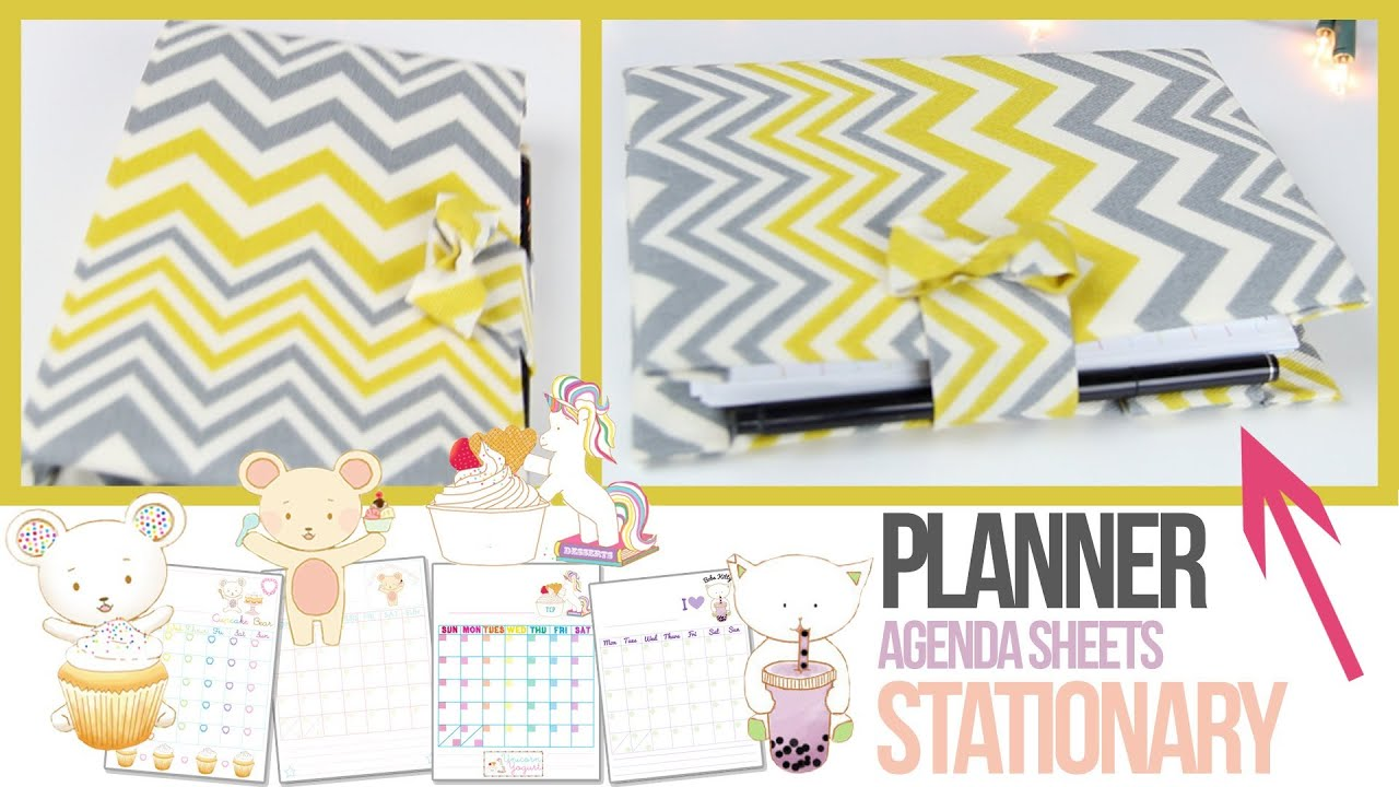 agenda tutorial planner stationery how to make your own planner youtube. Black Bedroom Furniture Sets. Home Design Ideas