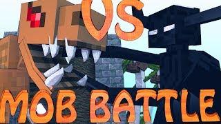 Minecraft Mob Battles T-REX VS ENDER TITAN Dinosaur