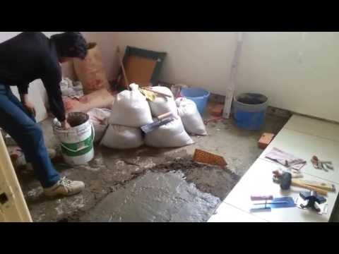 Marble Tile Floor Installation Process. Part 2