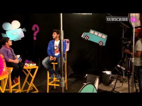 Arjun Kapoor on set of Disney chat show Captain Tiao part 1