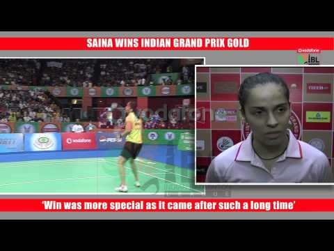 SAINA WINS INDIAN GRAND PRIX GOLD