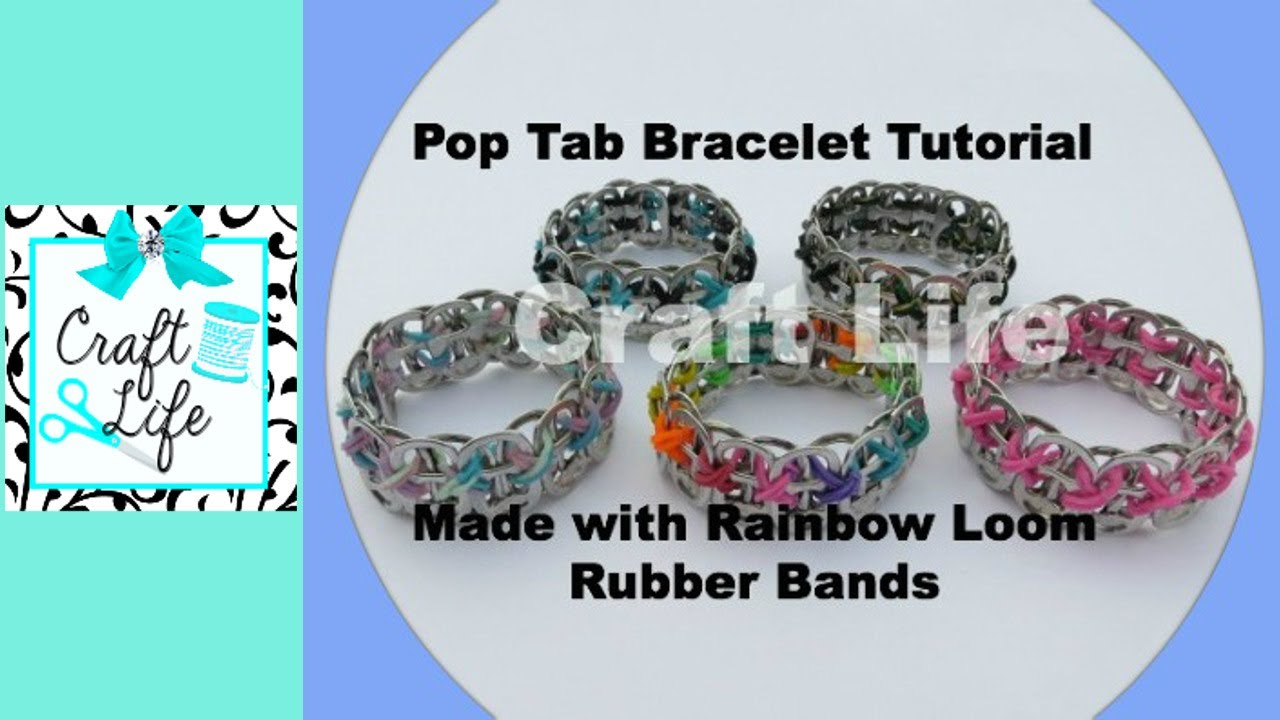 how to make bracelets with rubber bands youtube