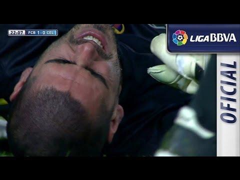 Lesión de rodilla   Knee injury de Víctor Valdés