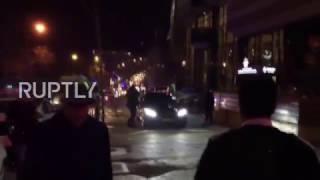 شاهد اللحظات الأولى لإطلاق النار على السفير الروسي بأنقرة  